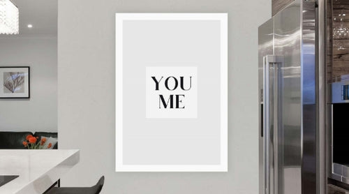 black and white wall art poster print