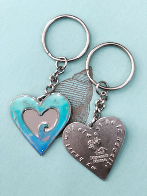 Heart Wave Key Chain