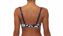 Soft Cup Bandeau Hibiscus Navy