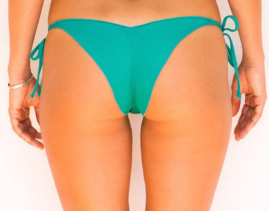 Skimpy Scrunch Tie Side Sea Green