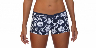 Hot Pant Hibiscus Navy