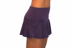 Skirt w/ Attached Bottom Egg Plant