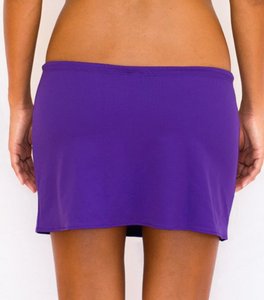 Short Drawstring Skirt Purple