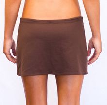 Short Drawstring Skirt Chocolate