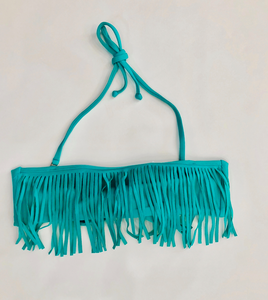 Mini Fringe Bandeau Sea Green