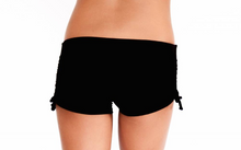 Mini Drawstring Short Black Solid