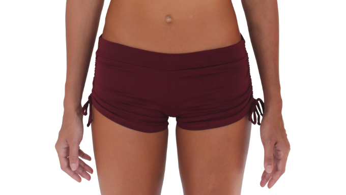 Drawstring Short Maroon