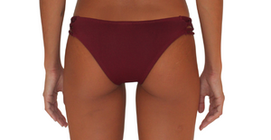 Skimpy Love with Braided Sides Maroon