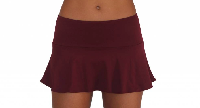 Skirt w/ Attached Bottom Maroon
