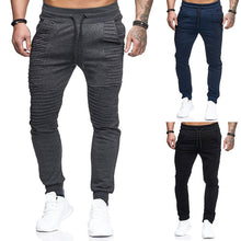 Load image into Gallery viewer, Hiphop Men's Harem Pants Sweatpants Male Trousers Sporting Tracksuit Joggers Slim Fitness Casual Pants Pockets Hombre Pantalon