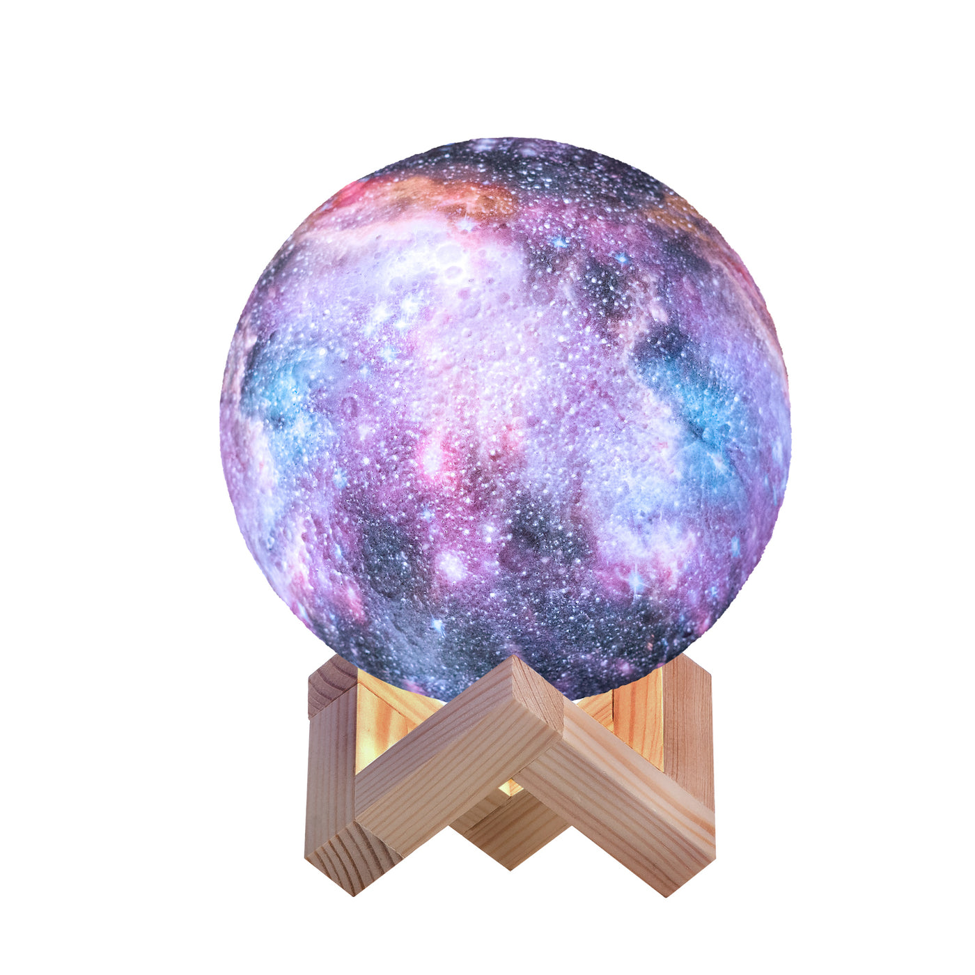 3D Galaxy Lamp with 16 Colors, Wooden Stand and Remote Control, GL-16C-4.7