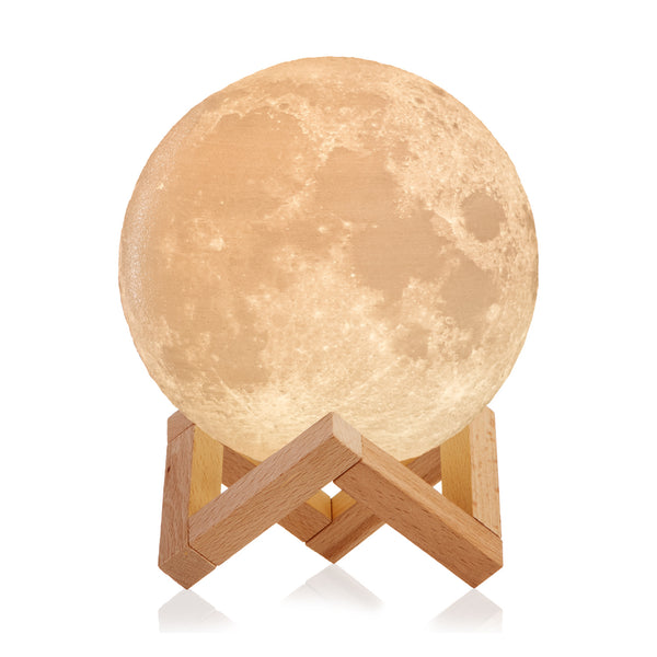 3D Moon Lamp with 16 Colors, Wooden Stand and Remote Control