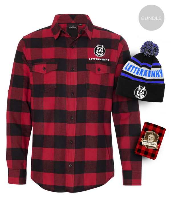 Men's Warm Bundle - Flannel, Toque, Koozie