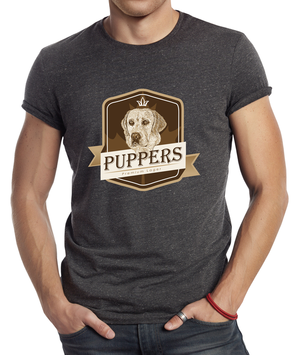 Puppers Heather Charcoal T-Shirt