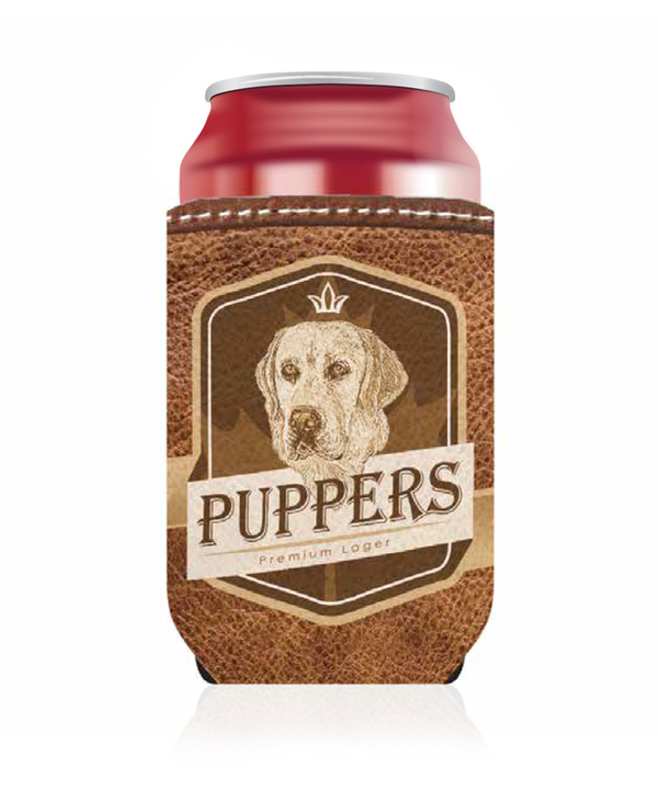 Puppers Premium Lager Koozie