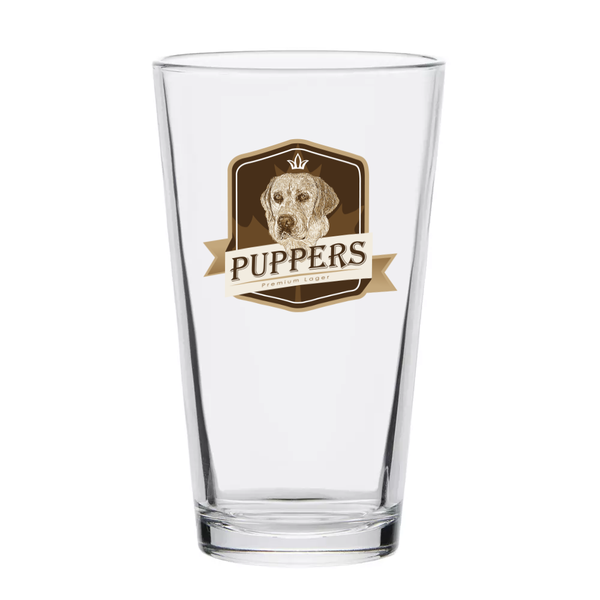 Puppers Full Color Pint Glass