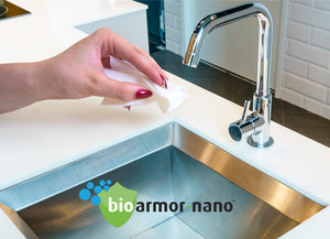 FREE TO YOUR DOOR UK DELIVERY! Bioarmor-Nano™ ANTIBAC - invisible tough antibacterial protective coating for important HOME surfaces. Works on Tile, Marble, Stone. Plastic, Tile, Glass, Porcelain & varnished wood interior surfaces. - Bioarmor Nano