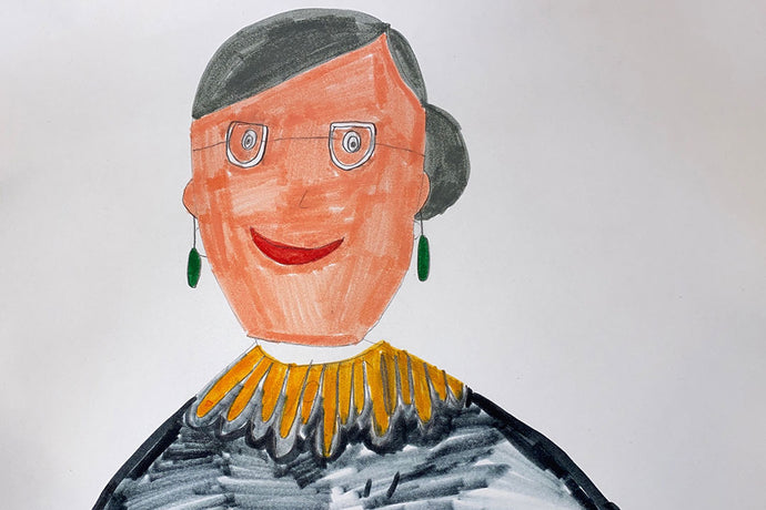 Color Me Brave: Kid art inspired by Ruth Bader Ginsburg