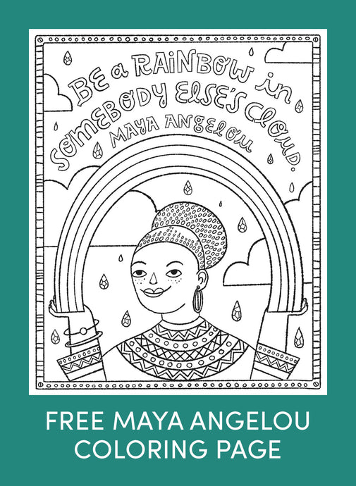 Free Maya Angelou Coloring Page Download