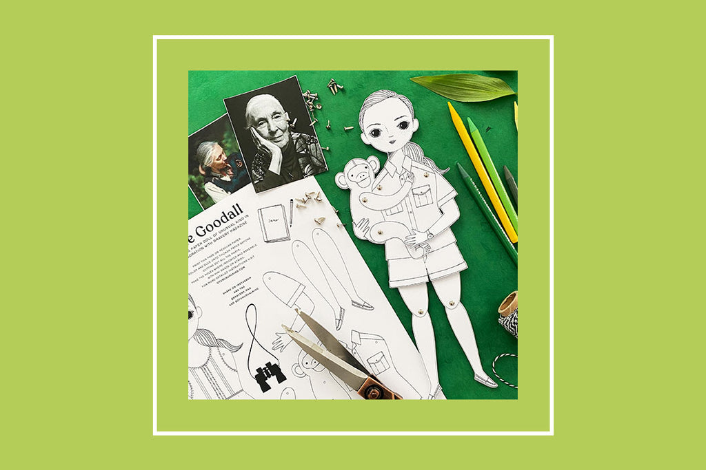 Free Jane Goodall Paper Doll
