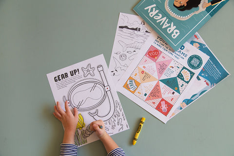 digital download for Bravery Magazine coloring pages and activities for kids