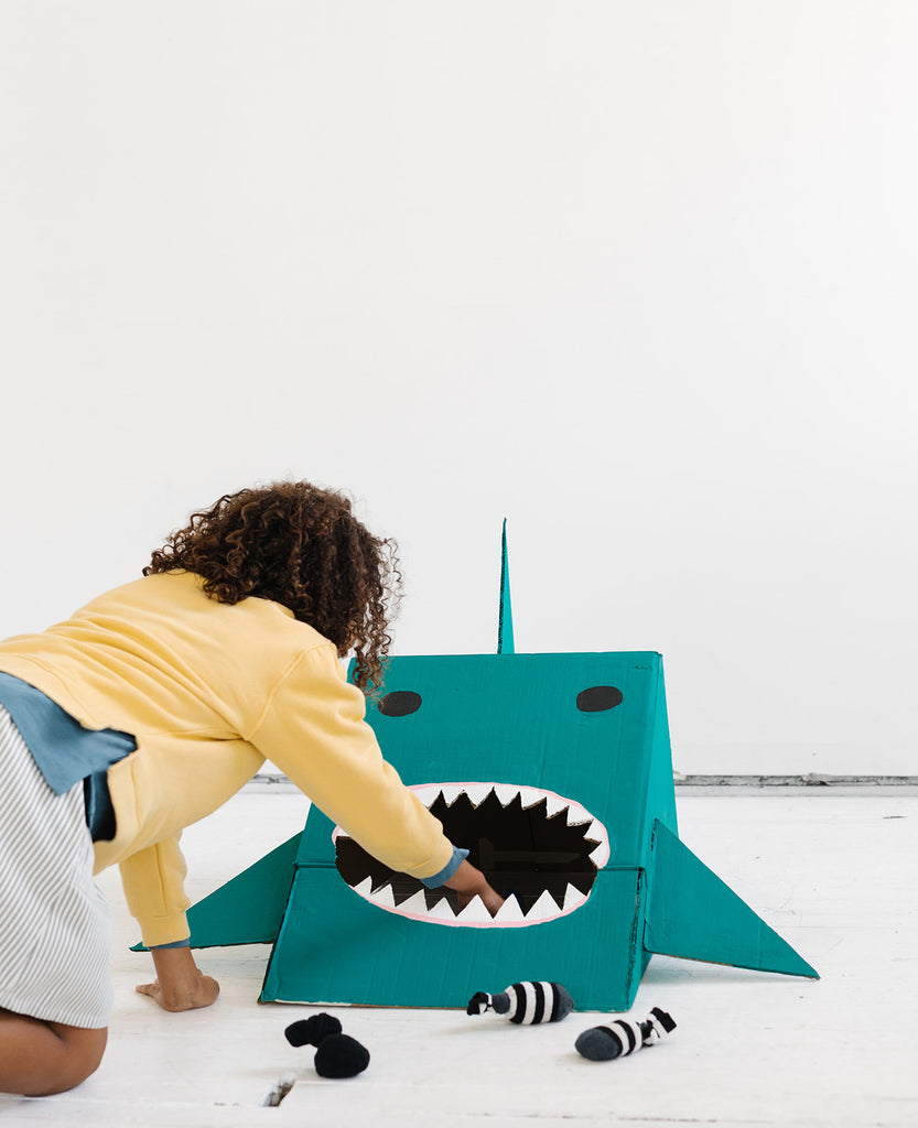 Homemade Bean Bag Shark Game