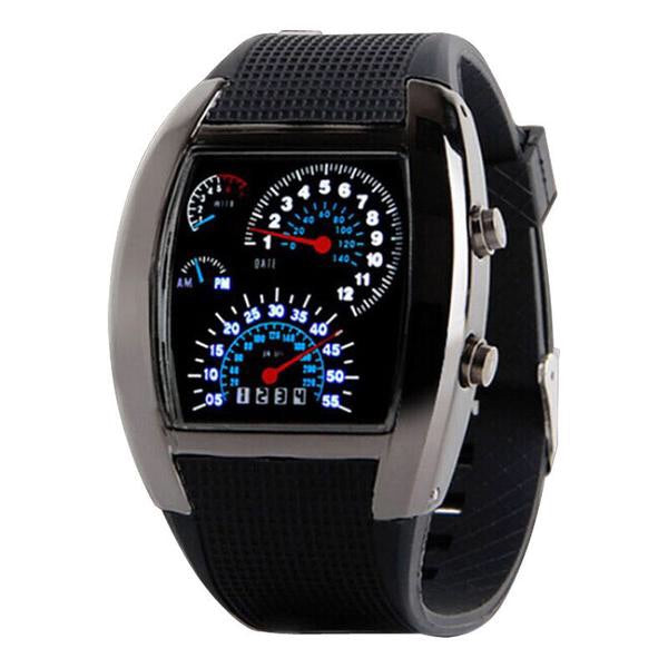 LED Speedometer Watch