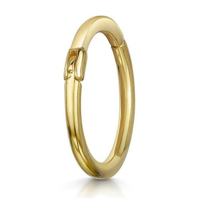 14k yellow solid gold conch hoop earring - LAURA BOND jewellery