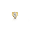 9k solid yellow gold marquise flat back earring - LAURA BOND jewellery