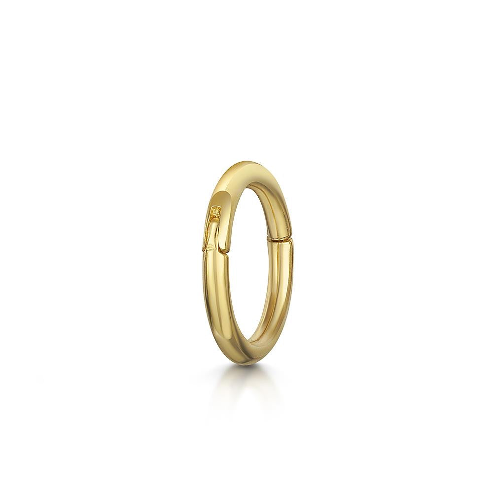 9k yellow solid gold mini clicker hoop earring - LAURA BOND jewellery
