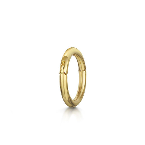 9k white solid gold mini simple gold hoop earring