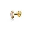 9k solid yellow gold opal marquise flat back labret stud - LAURA BOND jewellery