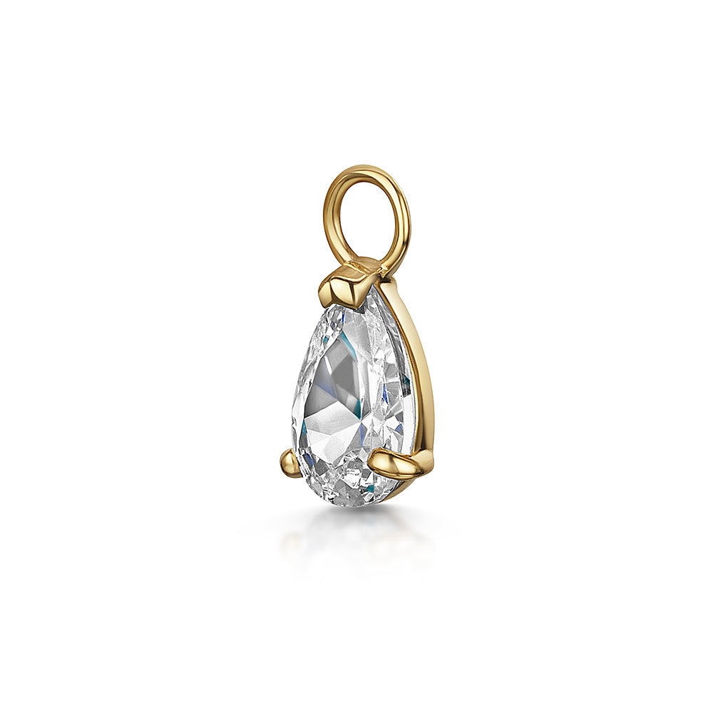 9k solid yellow gold tear drop charm - LAURA BOND jewellery