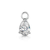 9k solid white gold tear drop charm - LAURA BOND jewellery