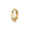 14k yellow solid gold teeny tiny simple gold hoop earring