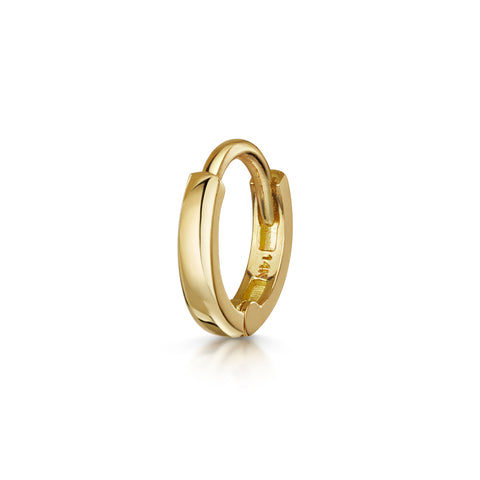 9k yellow solid gold clicker hoop earring