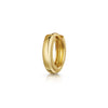 14k yellow solid gold teeny tiny simple gold hoop earring - LAURA BOND jewellery