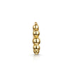14k yellow solid gold small boho beaded huggie hoop earring - LAURA BOND jewellery