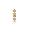 9k yellow solid gold four-stone crystal teeny tiny hoop earring - LAURA BOND jewellery