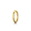 14k yellow solid gold mini clicker hoop earring - LAURA BOND jewellery