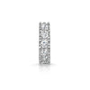 9k white solid gold mini white crystal huggie earring - LAURA BOND jewellery