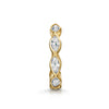14k yellow solid gold marquise crystal huggie earring - LAURA BOND jewellery