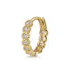 14k yellow solid gold marquise crystal huggie earring