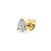 9k solid yellow gold channel set crystal huggie earring