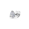 9k solid white gold tear drop crystal flat back labret stud - LAURA BOND jewellery