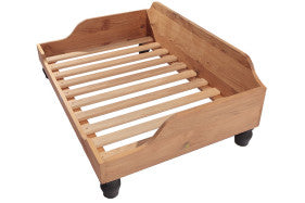 Berkeley Wooden Dog Bed Frame in Solid English Oak