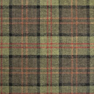 Luxury Dog Bed Tartan Fabric Covers in green