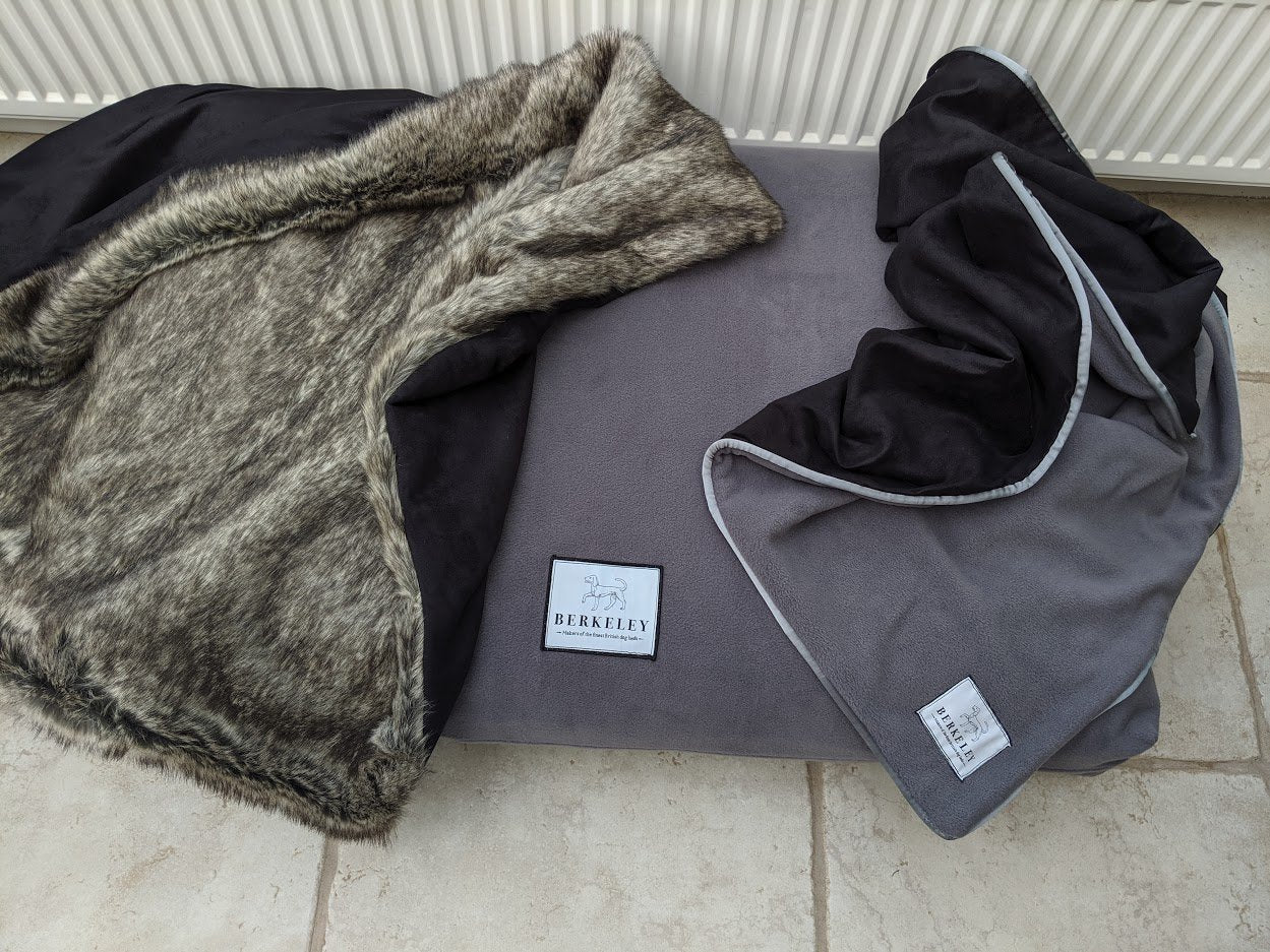 Berkeley Luxury Dog Blankets in Faux Fur and Fleece