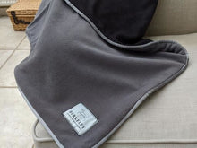 Load image into Gallery viewer, Berkeley Grey / Charcoal Fleece Dog Blanket