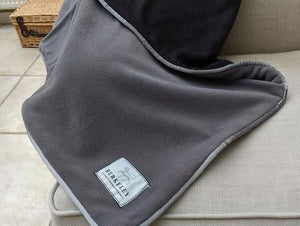 Berkeley Grey / Charcoal Fleece Dog Blanket